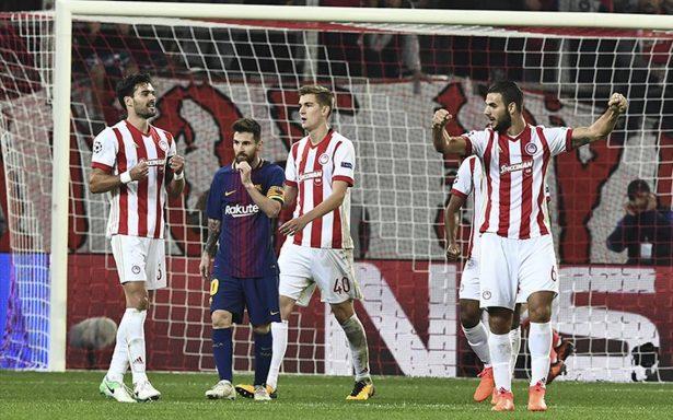 El Barça no puede con la muralla griega y termina en empate
