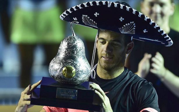 El argentino Juan Martín del Potro es campeón del Abierto Mexicano de Acapulco