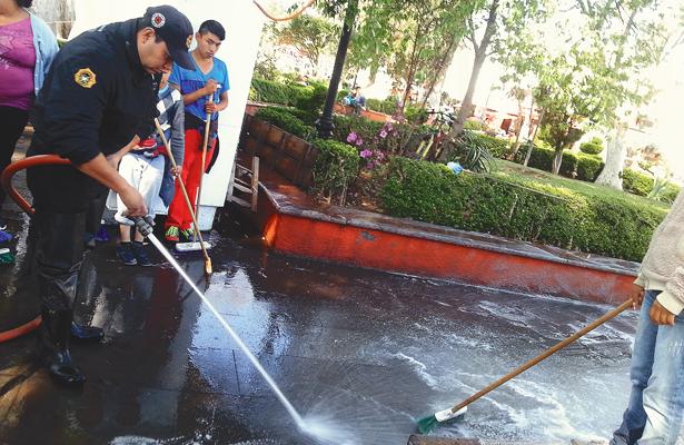 Inició limpieza integral en La Floresta