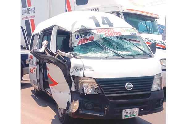 Dos lesionados en choques