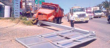 Pánico…! camión sin frenos en Bajada de la Muerte