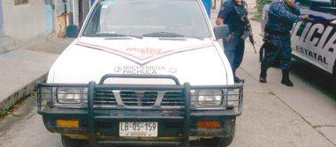 Recuperan camioneta  hurtada, en La Cruz