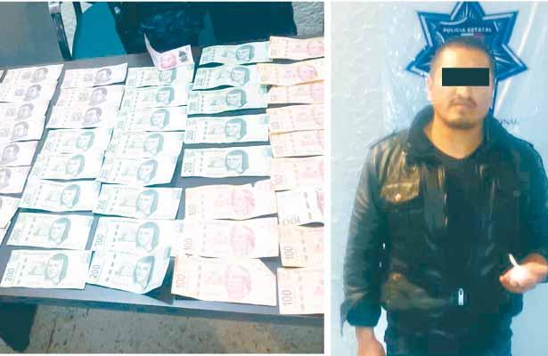 Arrestan a 1 con droga y dinero