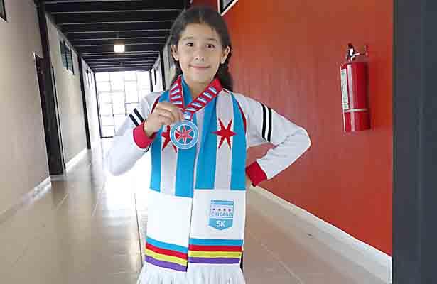 Isabella: toda una triunfadora en atletismo