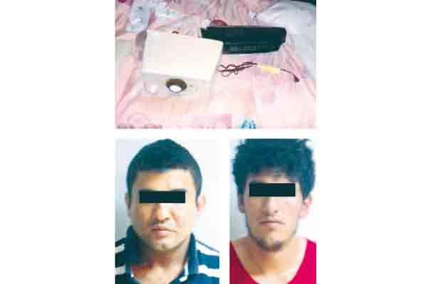Frusta robo en  hotel: 2 presos