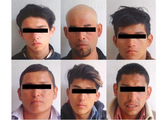 Policías atrapan a seis sospechosos