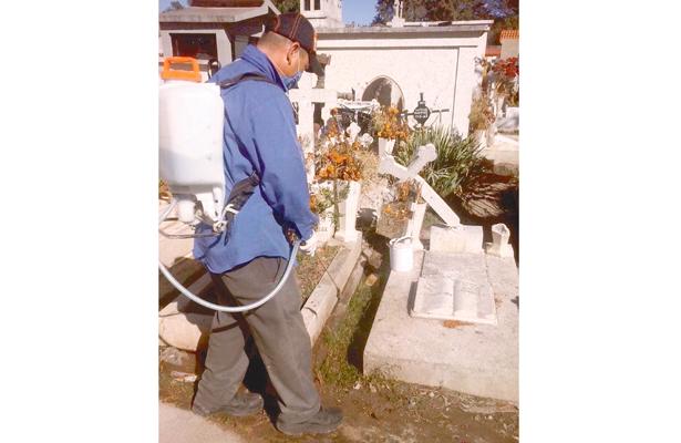 Fumigan cementerio San Miguel y evitan proliferación de moscos