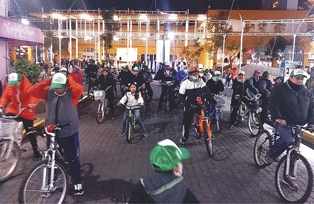 LOS MIÉRCOLES de Bici en Tulancingo quedaron aplazados hasta nuevo aviso. Foto: El Sol de Tulancingo.