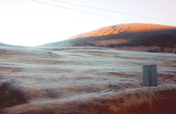 Fuerte helada en Valle y Sierra