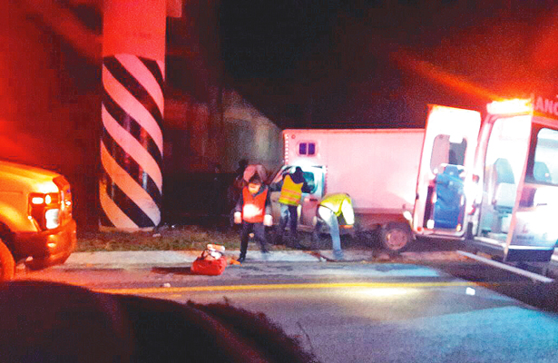 Trágico choque en la  carretera México-Tuxpan