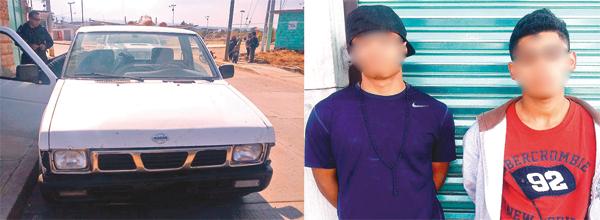 Andaban en Nissan robada y con droga