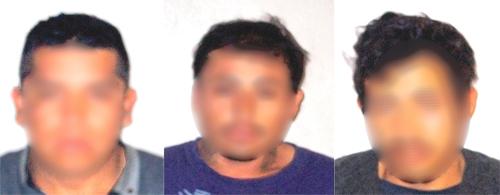 Persecución y captura de  tres; traían moto robada