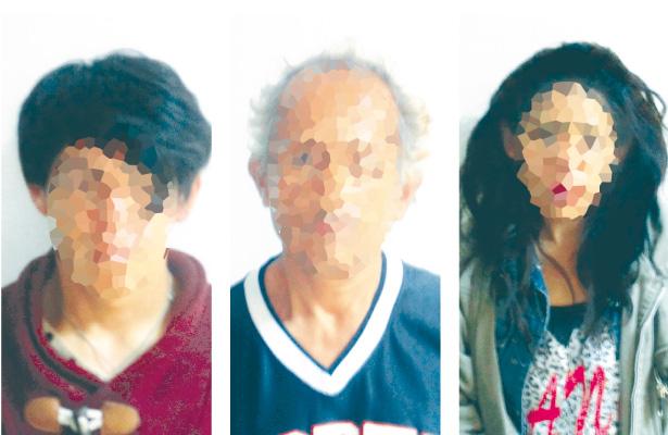 Tercia de presuntos ladrones capturada