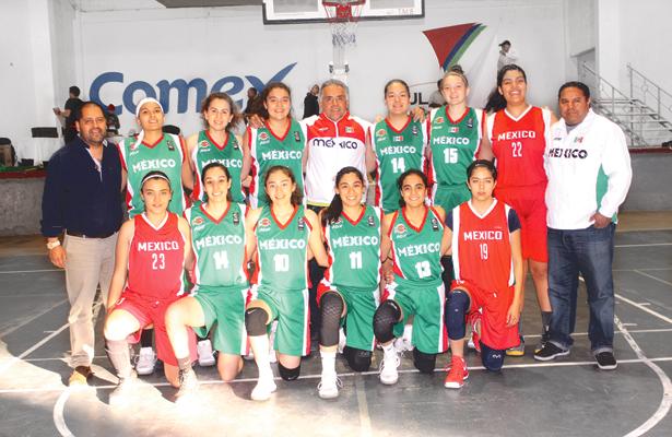 EL REPRESENTATIVO mexicano en basquetbol de la categoría U18. Foto: Sol de Tulancingo.
