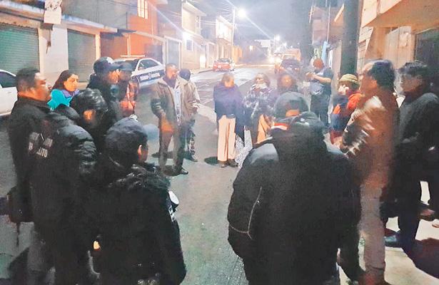 Vecinos de La Guadalupe se organizan con policías