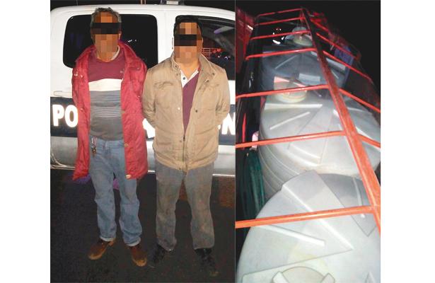 Capturan a dos con un camión cargado hasta el copete de combustible robado