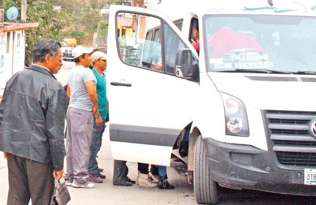 Urgen corridas de transporte; Zona Tepehua
