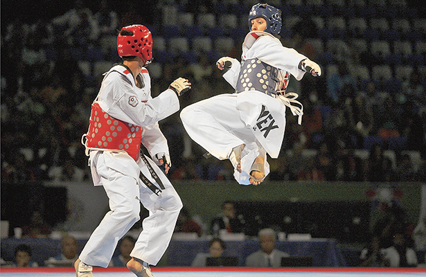 Cuadrangular de tae kwon do profesional, en La Calera