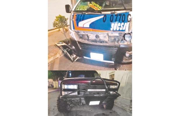 Madrugador accidente; un lesionado y pérdidas