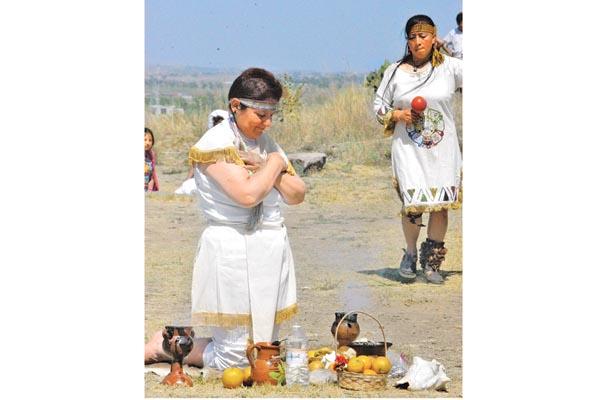 Ceremonia de Equinoccio de Primavera, en Huapalcalco