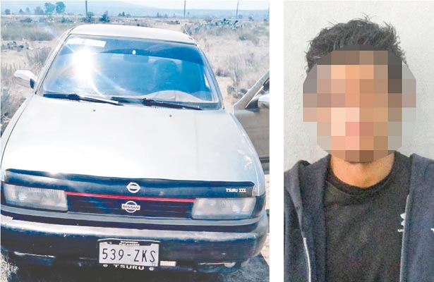 Detenido a bordo de auto que robó