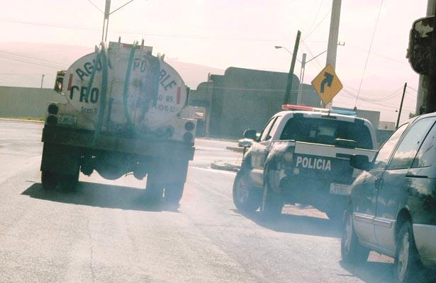 Camiones contaminan