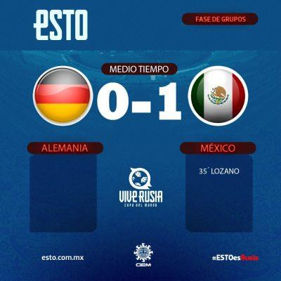 """Chucky"" Lozano 1, Alemania 0"