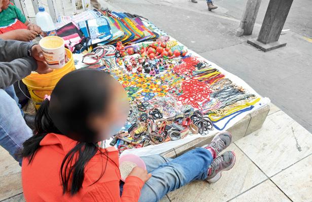 42 menores trabajan en  el centro de Tulancingo