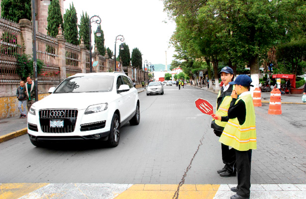 Niñez participa en programa oficial de Tránsito por un Día
