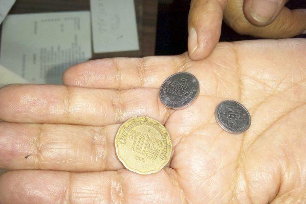 Nadie quiere monedas de 10, 20 y 50 centavos