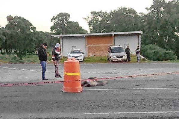 Varón perece atropellado sobre la autopista Pachuca-Tulancingo