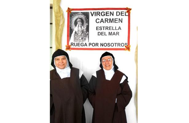 En puerta fiesta patronal en honor de la Virgen del Carmen