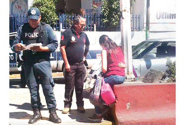 Menor y su mamá fueron atropelladas en céntrica calle