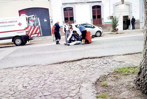 Otro accidente de motocicleta en céntrico sector; un lesionado