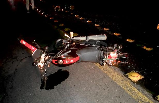 Accidente de motociclista en el libramiento La Joya