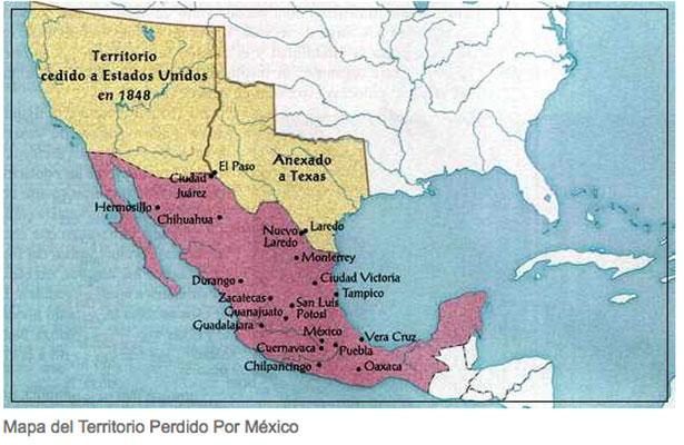 Resultado de imagen de Territorio cedido en el Tratado de Guadalupe-Hidalgo
