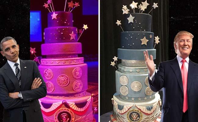 Trump copia a Obama el diseño de su pastel inaugural
