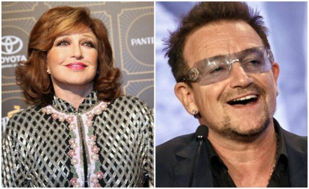 """Angélica María asegura que tuvo un """"amorío"""" con Bono de U2"""