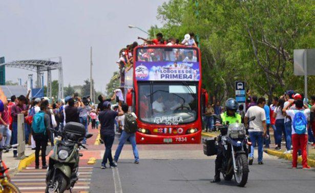 Vitorean a Lobos BUAP en recorrido por Puebla