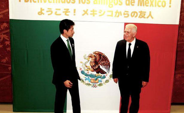 El presidente del Comité Olímpico Mexicano visitó al gobernador de la Prefectura de Hiroshima
