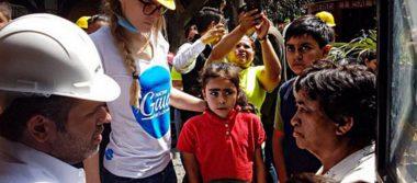 Belinda se compromete a reconstruir casas en Jojutla
