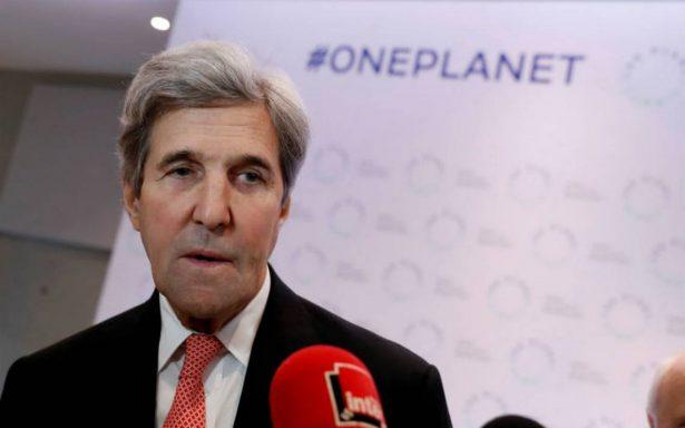 Pese a decisión de Trump, EU sigue comprometido con el Acuerdo de París: Kerry