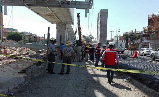 Obreros del Tren Ligero resultan heridos en Zapopan