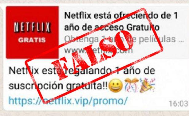 """¡Cuidado! Mensaje en WhatsApp que """"regala"""" Netflix roba identidad"""