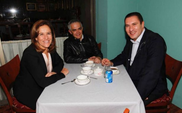 Zavala, Mancera y Moreno Valle se reúnen en hotel de la CDMX