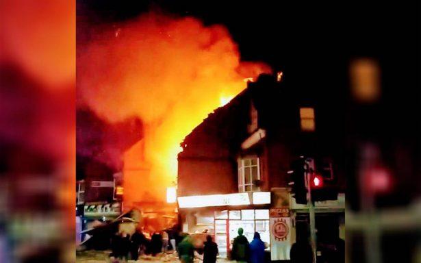 [Video] Explosión en Leicester deja cuatro heridos; descartan terrorismo