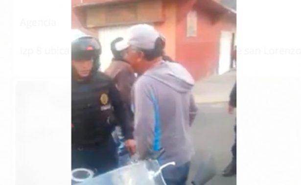 Policía detona su arma y lesiona a mujer embarazada en Iztapalapa