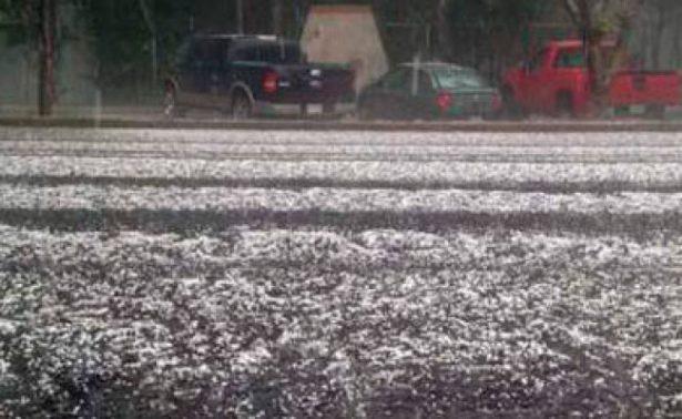 Sorprende lluvia y granizo en la CDMX; ocasionan encharcamientos