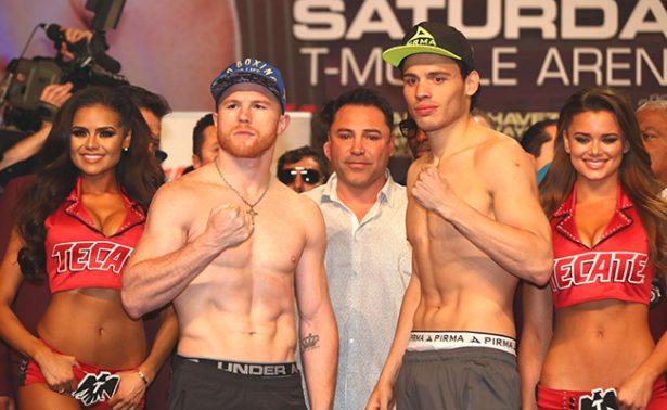 Saúl Álvarez y Julio César Chávez pelearan esta noche en combate esperado