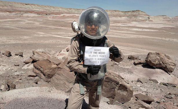 """Mexicano Yair Piña envía saludos a su abuela desde """"Marte"""""""